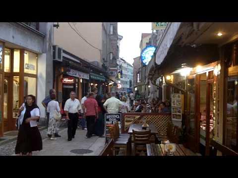 Baščarija old town street scene in Sarajevo
