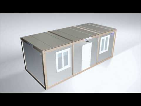 Flat Pack Container – Office Modular Cabin Assembly