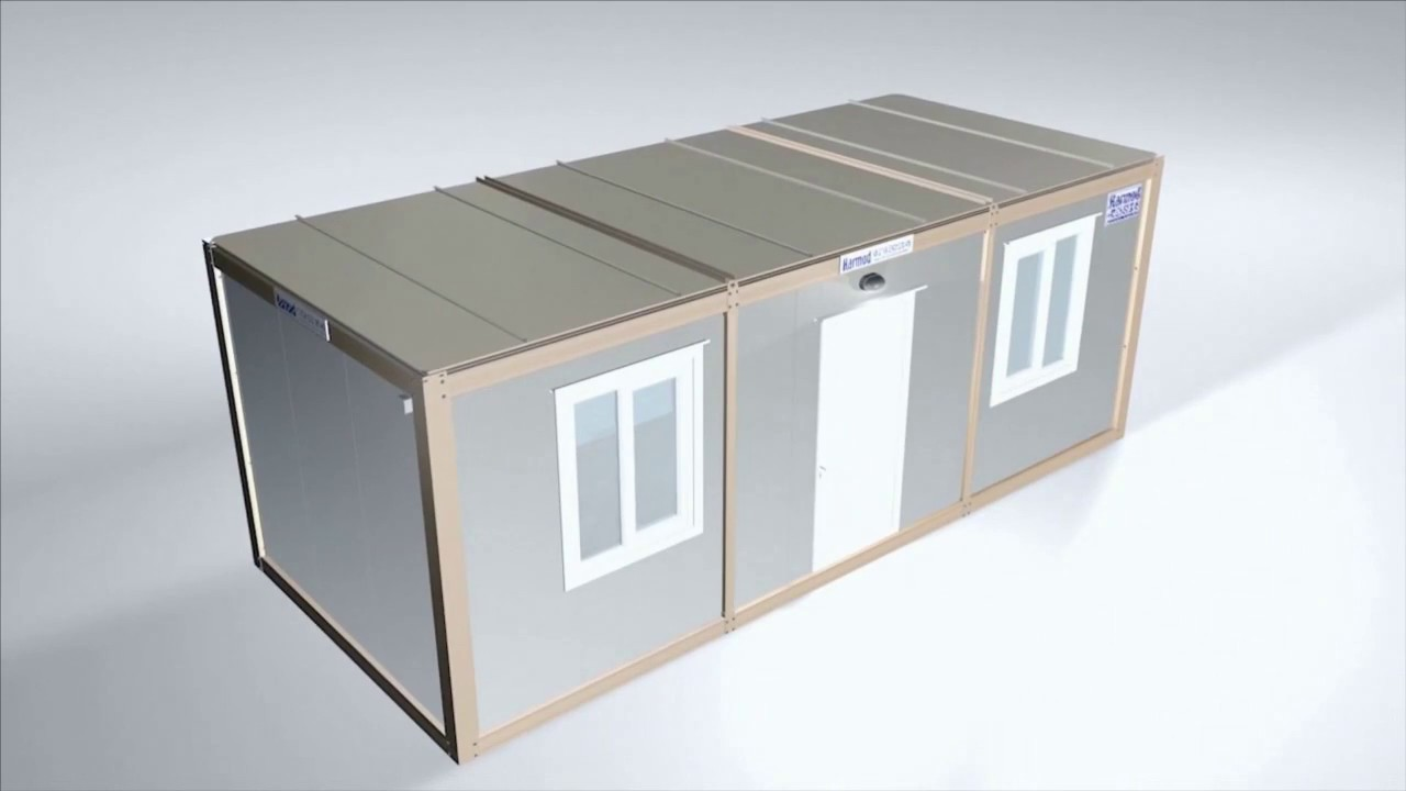 Flatpack House Flat Pack Container Office Modular Cabin Assembly Youtube