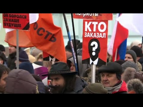 Russian opposition march 3 years after Nemtsov murder
