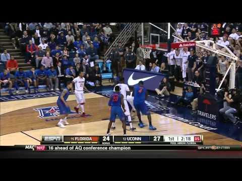 #15 Florida @ #12 Connecticut 12-2-2013 (Full Game)