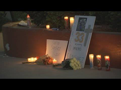 Vigil held for high school football player who died