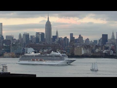 New York, New York - Viking Sea Departing New York City HD (2017)