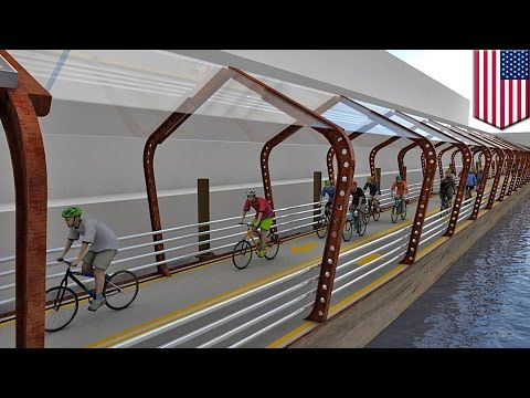 RiverRide: Chicago may build floating, solar-powered bike path along Chicago River - TomoNews