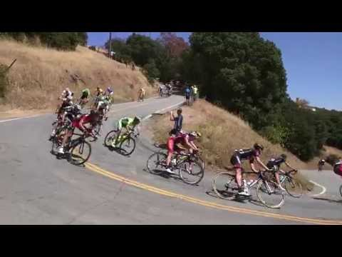 2015 Tour of California Stage 3 Quimby Rd descent (Chase Group with Michael Woods crash)