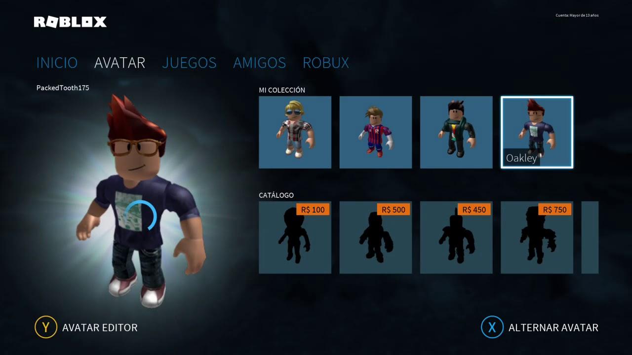 Tutorial Como Personalisar Avatar En Roblox Xbox One Youtube