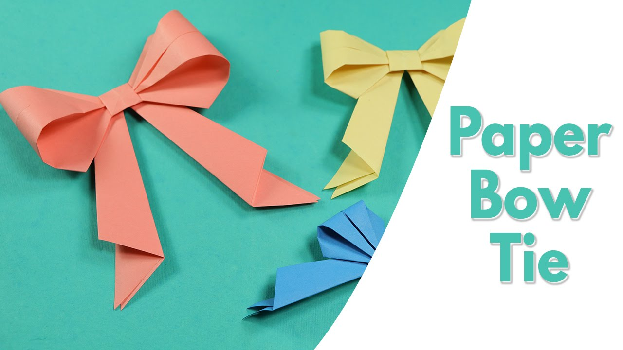 Easy Origami For Kids Paper Bow Tie Simple Paper Craft Idea For