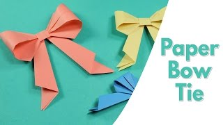 Easy Origami for Kids - Paper Bow Tie, Simple Paper Craft Idea for Kids