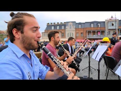 A flash mob performance of Georgian Sinfonietta in Tbilisi, Georgia
