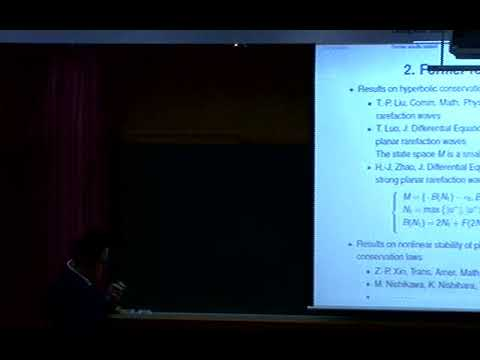 Huijiang Zhao (Wuhan Uni.) / Nonlinear stability of strong rarefaction waves for the relaxation...