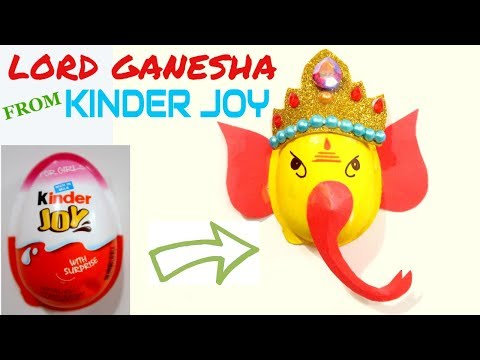 LORD GANESHA FROM KINDER JOY CUP | GANESH CHATURTHI CRAFT | BEST OUT OF WASTE COMPETITION IN SCHOOL