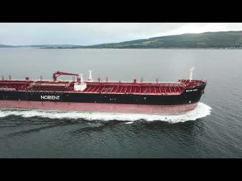 Baltic Wind tanker on the River Clyde
