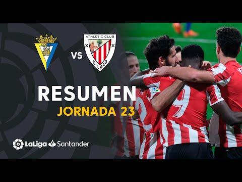 Resumen de Cádiz CF vs Athletic Club (0-4)