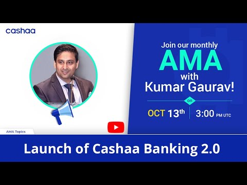 Most important Cashaa AMA for Year 2020 in OCT !