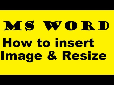 How to Insert, Rotate & Resize a Picture In MS Word in Hindi Lec 15