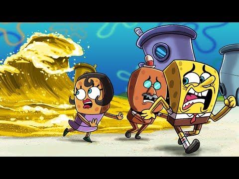 Minecraft - TSUNAMI BIKINI BOTTOM CHALLENGE! (Spongebob vs Tsunami! )