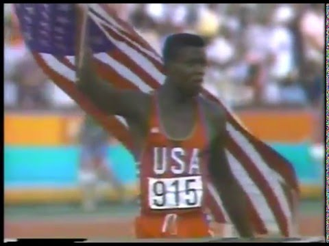 1984 Olympics Mens 100m Finals - Carl Lewis gld & Sam Graddy silvr & Ben Johnson brz imasportsphile