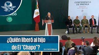 """AMLO contesta quien liberó al hijo de el """"Chapo"""" Guzmán"""