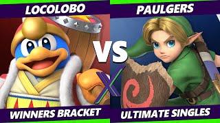S@X 411 Winners Bracket - LocoLobo (Dedede) Vs. Paulgers (Young Link) Smash Ultimate - SSBU