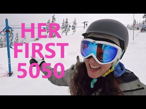Download My Girlfriend Attempts a 5050 - Beginner Snowboarding Tricks Screenshots