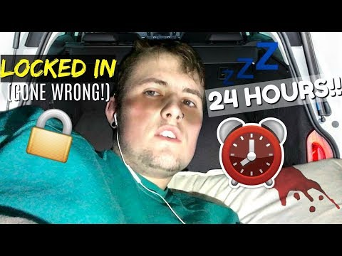 24 HOUR OVERNIGHT CHALLENGE (LOCKED IN CAR) witnessed illegal deal! Gone Wrong!