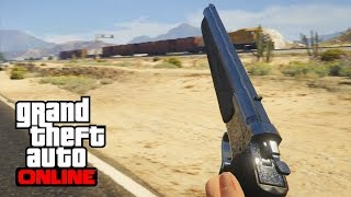 TESTING NEW WEAPONS!!! - Marksman Pistol + Knuckle Duster - GTA 5 Online Ill Gotten Gains 2