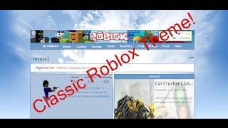 How to Get Roblox Classic Theme(s)