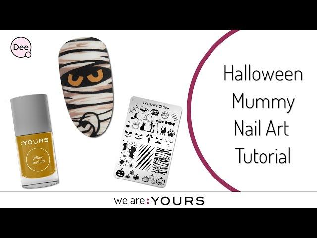 Halloween Mummy Nail Art Tutorial