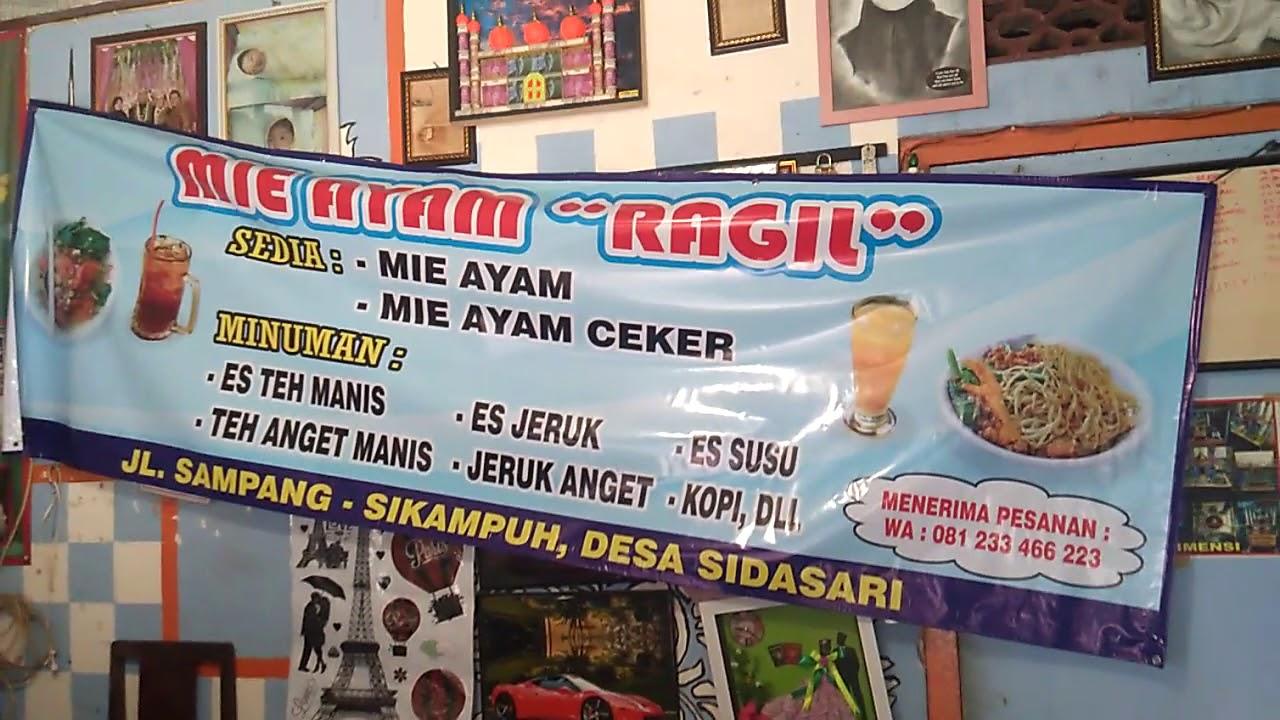 Banner Mie Ayam Ceker - gambar spanduk