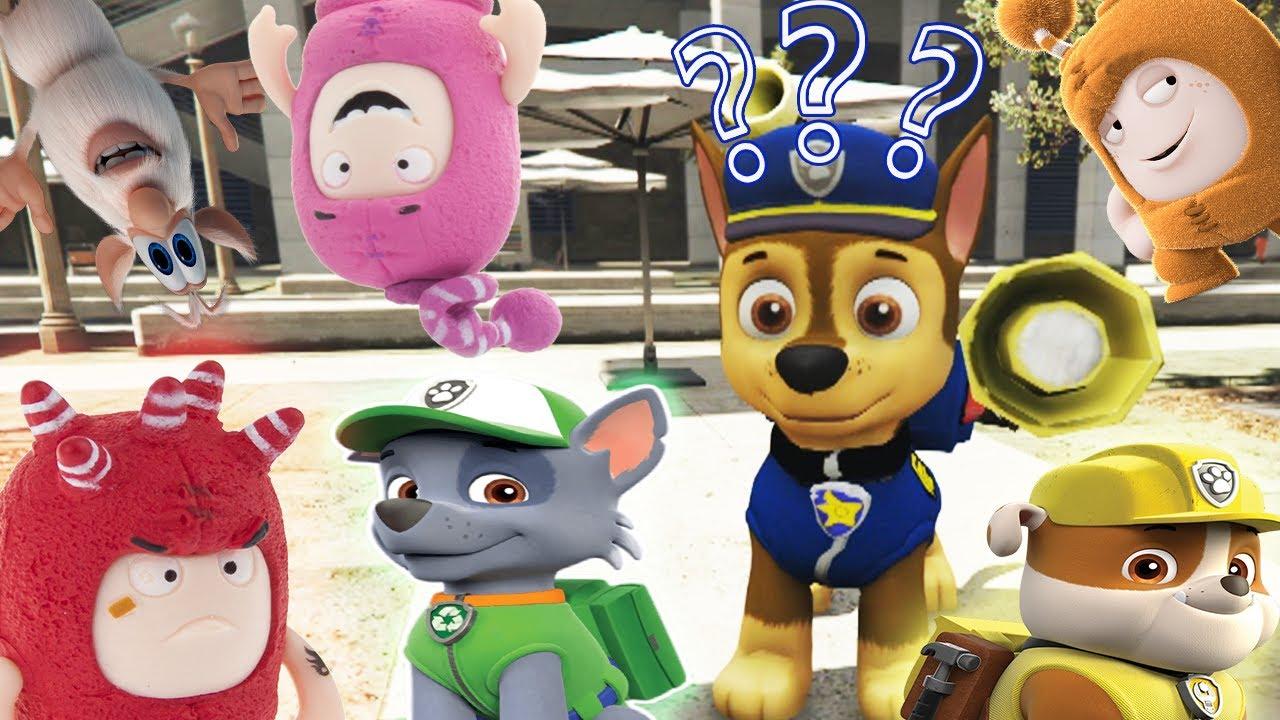 Super Cache Cache  Avec la pat'patrouille en francais pour enfants challenge paw patrol oddbods