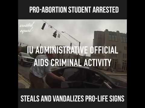IU Political Activist Steals, Vandalizes Signs as University Officials Do Nothing