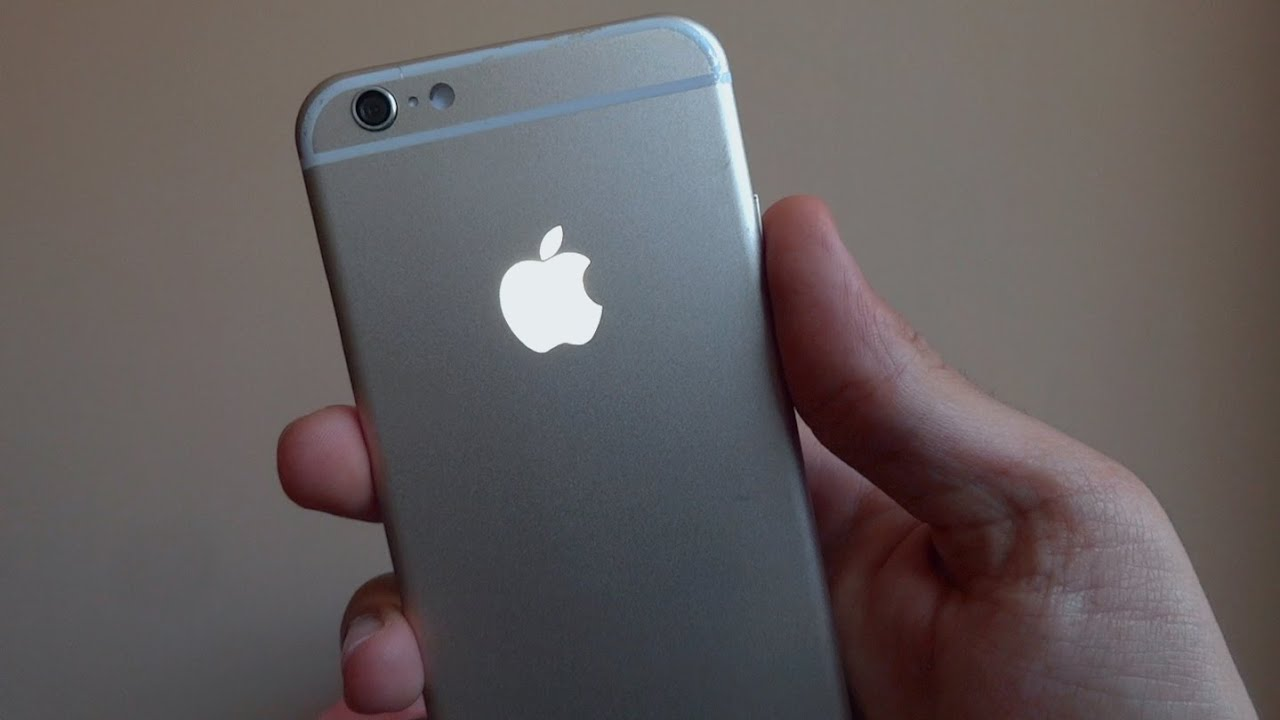 Iphone 6s Backlit Apple Logo Youtube
