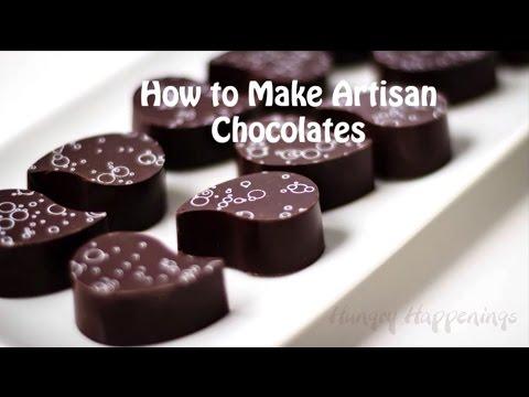 How to make handmade chocolates using chocolate transfer sheets.