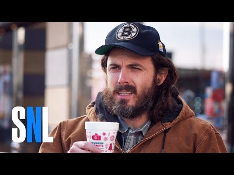 Damon & Cory - Casey Affleck channels all of us at Dunkin'