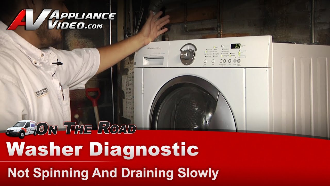 Frigidaire, Electrolux - Washer Diagnostic - Not Spinning & Draining Slowly  - GLT52940FS2