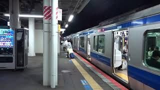 白鳥の湖の発車メロディが鳴る佐貫駅3番線に到着した常磐線下りE531系