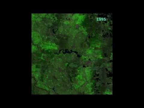 Canberra from space: 1987-2014