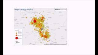 La prima settimana della sequenza sismica in italia centrale un minuto