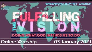 Greenford Baptist Church Sunday Worship (Online) 3 January 2021