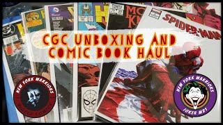 CGC Unboxing and Comic Back issue haul with Comically Flawed, Joker M21 & Bigeez Comics