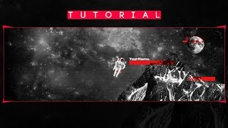 Epic Astronaut Twitter Header | Tutorial/Template | Photoshop CC