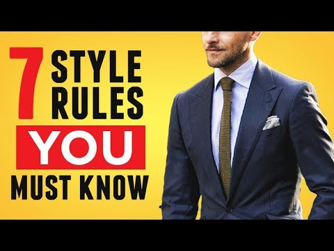 7 Style Rules (In 3 Minutes!) EVERY Man Must Know | Avoid Fashion Mistakes | RMRS Style Videos