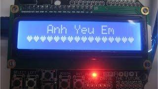 Lập trình vi điều khiển-Phần 41-Tạo hình trái tim trên LCD với Arduino- Special signal on LCD keypad