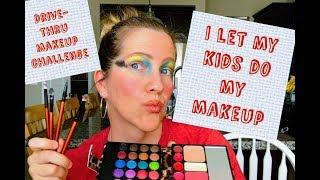 Drive Thru Makeup Challenge | I LET MY KIDS DO MY MAKEUP!