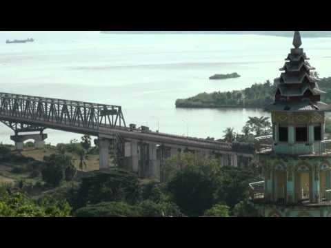 ThanLwin Bridge (Maw La Myine) Mon State, Myanmar.