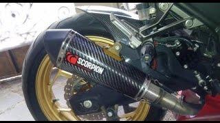 Suara Lepas Knalpot Scorpion Ninja 250 Fi