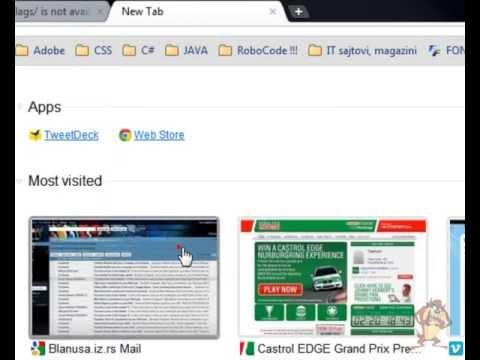 Hide address bar Google Chrome Canary (Compact Navigation - hide the toolbar)