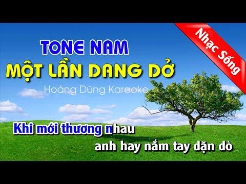Một lần dang dở karaoke nhạc sống - Mot lan dang do karaoke nhac song tone nam