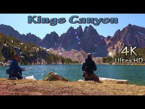 Trout Fishing Backpacking In National Park/California Trail Hiking & Lake Camping In Kings Canyon/4K