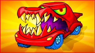 НОВАЯ ХИЩНАЯ МАШИНА car eats car 3 Игра как мультик про хищные машинки от Фаника